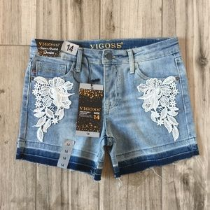 NWT Vigoss The Malibu Mid-Shorts Size 14